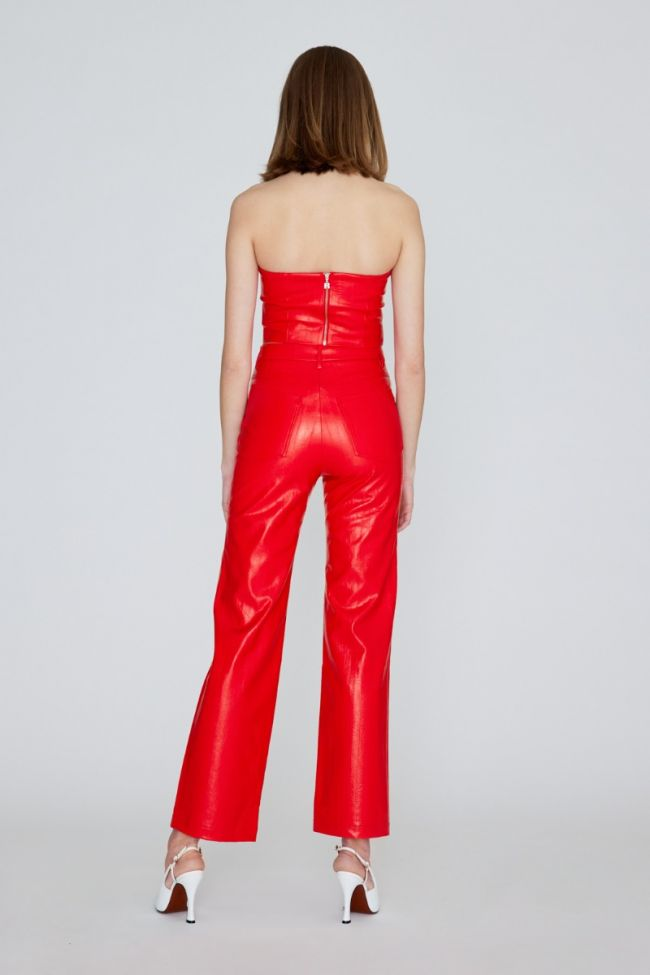 Rotie PU Pants Red