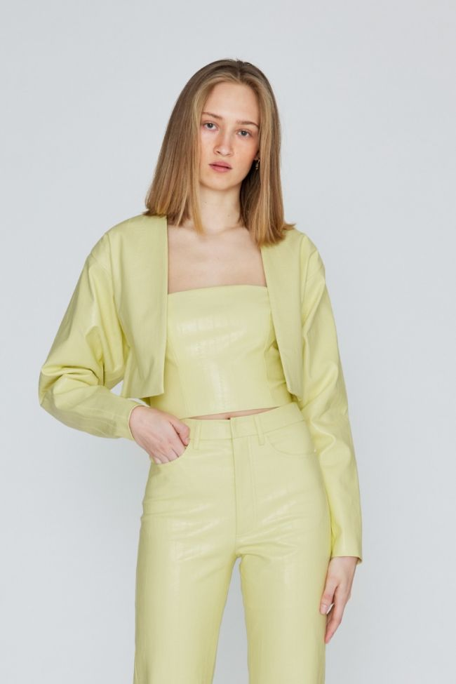 Magrit Short Jacket Yellow